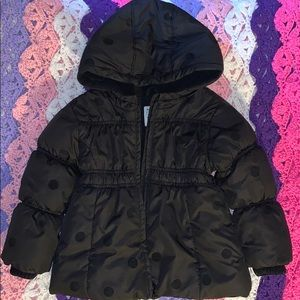 Black girls toddler puffer coat - Great Condition